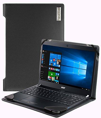 Broonel - Profile Series - Schwarzes premium leder Case/Cover Trage Tasche speziell für das Dell Latitude 3390 2-in-1