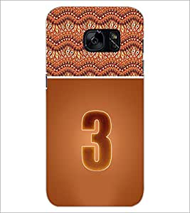 PrintDhaba Numerology Number 3 D-3635 Back Case Cover for SAMSUNG GALAXY S7 (Multi-Coloured)
