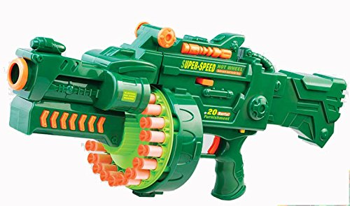 Brigamo 470 - Elektrisches Gewehr Schnellfeuer Softdart Blaster Super Speed Hellfire inkl. Munition ✪