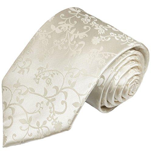 Hochzeitskrawatte ivory elfenbein 100% Seide Hochzeitsmode für Herren