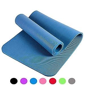 XXL Yogamatte Pilates Gymnastikmatte trainingsmatte Fitnessmatte,Premium inkl Tragegurt,phthalatfrei,SGS geprüft,NBR,200x100x1,5cm extra dick verschiedenen Größen