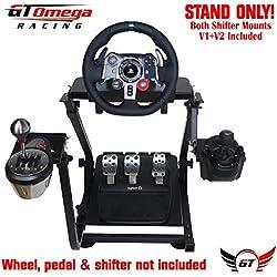 GT Omega Support de volant pour Logitech G29 G920 Thrustmaster T500 T300 T300 TX & TH8A, monture de levier de vitesses V1 - PS4 Xbox Fanatec Clubsport - Réglable pour la console de course