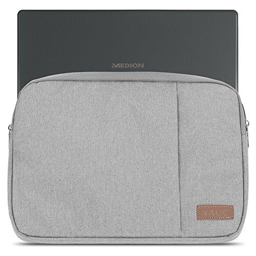 Medion Akoya E3222 E3223 Hülle Notebook Sleeve Tasche in Schwarz oder Grau Laptop Schutzhülle Case Cover Etui, Farbe:Grau