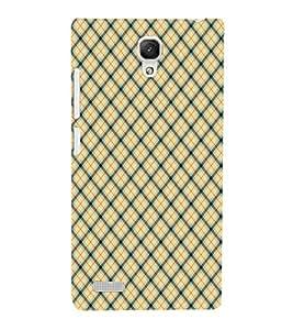 EPICCASE yellow crosses Mobile Back Case Cover For Xiaomi Redmi Note Prime (Designer Case)
