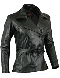 Womens Real Leather Coat Soft Lamb Skin Light Weight M