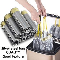 Madeb Sac Poubelle est Facile à Utiliser, Propre, Peut être utilisé dans Les Sacs à ordures de Cuisine et Les Sacs à ordures d'intérieur, 12-15 litres, Argent, 150 Sacs