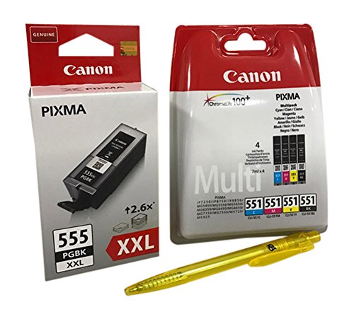 Original Druckerpatronen für Canon PIXMA iX6850, MX725/ 925 (black XXL + (4er))