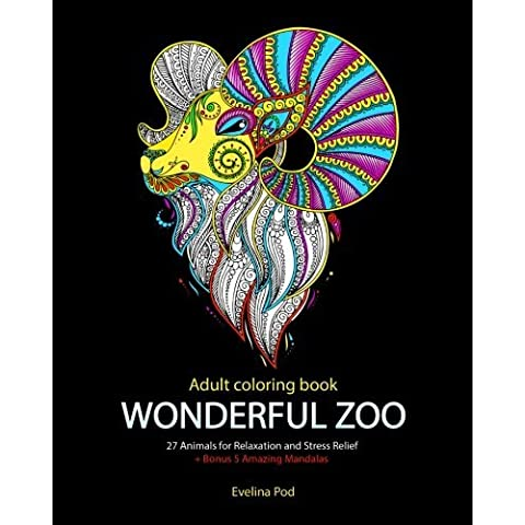 Adult Coloring Book: Wonderful Zoo by Evelina Pod (2015-12-11)