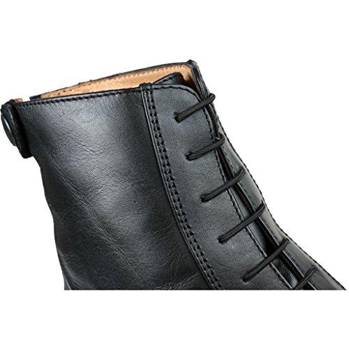 QHP Elastische Schnürsenkel für Reitstiefeletten und Reitstiefel Schwarz
