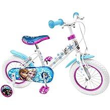 Stamp Frozen bicicleta niño Niña, color blanco