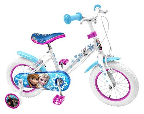 Stamp - bicicleta infantil de Frozen, color blanco
