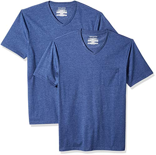 8ed2157e8551 Amazon Essentials 2-Pack Slim-fit V-Neck Pocket T-Shirt,