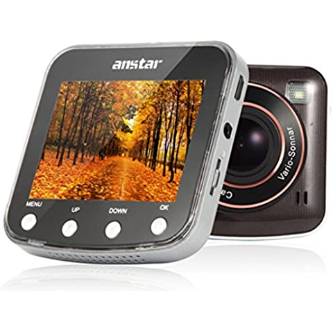 ANSTAR K6 Slim Car DVR 2.7inch 170 Degree Angle 1080P HD Car Camera Recorder Dash Cam Motion Detection Night Vision With 16G TF Card or Can as the Thanksgiving and Christmas Gift