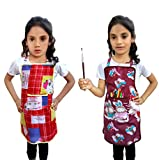#6: Tolexo Kids cotton and polyester Apron for painting cooking and crafting set of 2