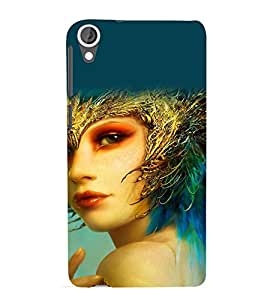 printtech Cute Beautiful Anime Girl Back Case Cover for HTC Desire 820