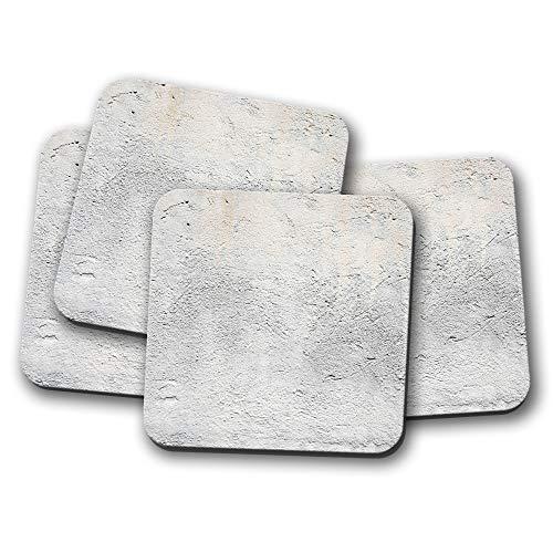 4er-Set - grauer Beton Untersetzer - Zement Builder Construction Texture Geschenk #15692 -