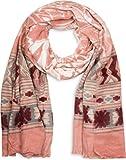 styleBREAKER breiter XXL Schal mit Azteken Ethno Boho Muster und Fransen, Strickschal, Unisex 01017026, Farbe:Altrose-Grau-Bordeaux-Rot-Weiß