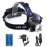 Jirvyuk LED Stirnlampe Wasserdicht Kopflampen, Super helle LED-Lampen, Wasserdichter Scheinwerfer, Perfekt zum Laufen, zum Campen, zum Wandern und zum Spazierengehen (T1)