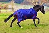 Rhinegold Dottie Torrent Lightweight Outdoor Horse Turnout Rug – Blue, 6.3-Inch