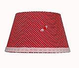 Tisch-Lampenschirm mit E27 zu E14 ring konverter (Rot mit Blume)