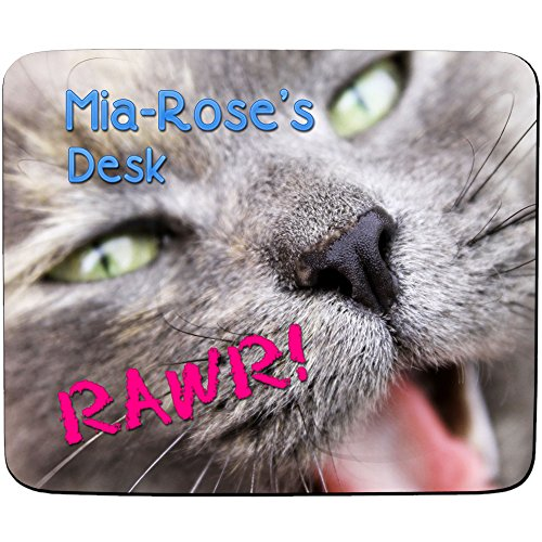 mia-roses-desk-cute-kitten-rawr-design-personalised-name-mouse-mat-premium-5mm-thick
