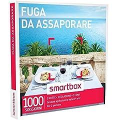 Idea Regalo - smartbox - Cofanetto Regalo - Fuga da ASSAPORARE - 1000 soggiorni con Cena in agriturismi e Hotel 3* o 4*
