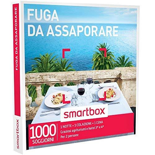 Smartbox - fuga da assaporare - 1000 soggiorni con cena in agriturismi e hotel 3* o 4*, cofanetto regalo