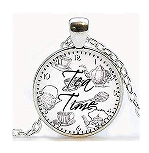 Tea Time Zitat Anhänger. Zitat Halskette. Zitat Jewelry -
