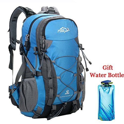 Sport Rucksack Frauen (Trekkingrucksack Wanderrucksack Wasserdicht Groß Trekkingrucksack Sport Rucksack Wanderrucksack Herren Damen 40L Travel Bags (3-Blau))