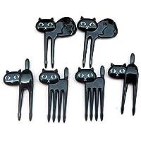 Kicode 6 piezas Tenedor de frutas de dibujos animados de niños Seguridad para bebés Lindo postre de gadget Accesorios para palillos de dientes