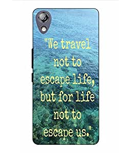 Snazzy Traveling Slogan Printed Blue Hard Back Cover For Lenovo P70
