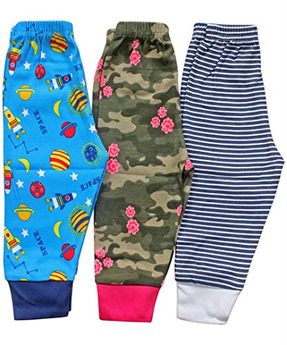 Baby Station Premium Quality Grip Leggings long pant pajama -3 Pack (12-18 Months)