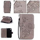 Nancen Apple iphone 4 / 4S (3,5 pouces) coque , PU cuir flip housse Étui Cover Case...