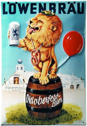 aluminium-sign-art-deco-lowenbrau-beer-oktoberfest-110x80-mm