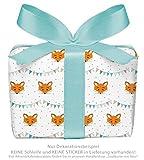 3er-Set Geschenkpapier Bögen für Kinder/Kindergeburtstag / Baby/Geburt /Taufe mit FUCHS GRILANDE für Mädchen und Jung`s • Format : 50 x 70 cm