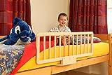 Barrera de cama de madera desprendible