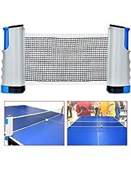 Queta Retractable Table Tennis Nets, Ping Pong Net Adjustable Table Tennis Set Portable Travel Holder Indoor Outdoor Sports Accessories
