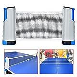 Queta Tischtennisnetze, ischtennis Netze TT Netzgarnitur Set Tragbares Tischtennisnetz Beweglicher Reisehalter - Einstellbare Länge 175(max) x 14.5cm