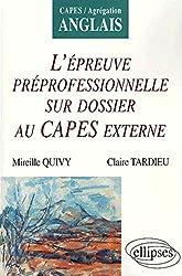 L'épreuve professionnelle sur dossier au CAPES externe