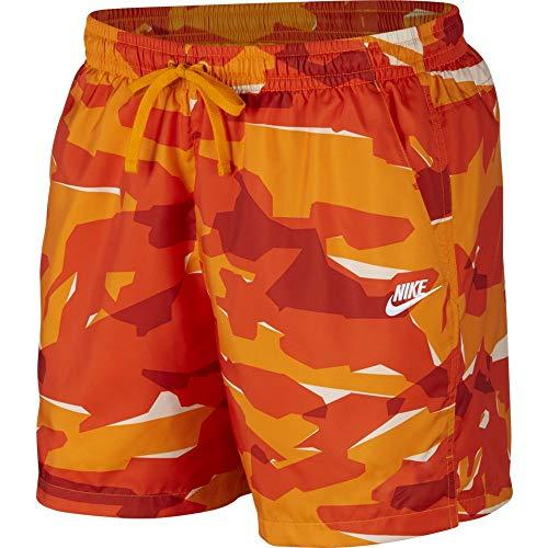 Nike Herren M NSW Ce Camo Short WVN Hose, Orangenhaut/Weiß, XL -
