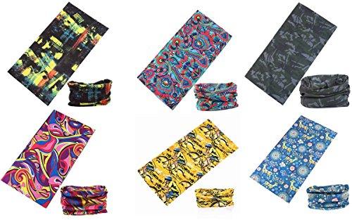 datechip Multifunktionstuch 12in1magic Schal Haarband Bandana UV-Insektenschutz Schal [Paisley] Armbandes, Sturmhaube, Headwrap, Hals Gaiter, Helm Liner 100% Mikrofaser