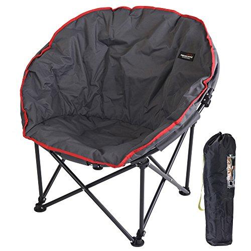 Redcliffs chaise de camping pliante en métal 75 x 80 x 60 cm, gris / rouge