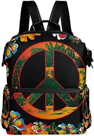 COOSUN Art Fleur et la paix paix paix école Rucksack Sac à dos Voyage Multi | La Mise à Jour De Style  8cc7f1