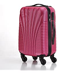 a6b4bcfea4 Ultra Lightweight ABS Hard Shell Cabin Luggage Trolley Bag - Carry On Travel  Suitcase Built