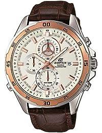 Casio Reloj Analogico para Hombre de Cuarzo con Correa en Cuero EFR-547L-7AVUEF