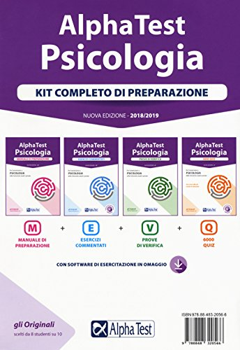 Alpha Test. Psicologia. Kit completo di preparazione. Con software
