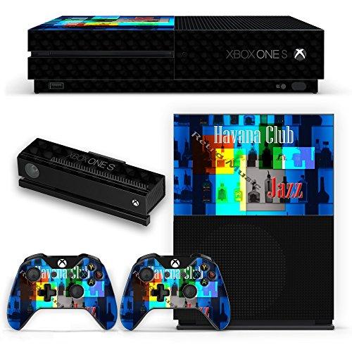 Preisvergleich Produktbild Weinlese Postkarten VP005, Havana Retro Club, Design folie Sticker Skin Aufkleber Schutzfolie mit Farbenfrohe Design für Xbox One S Schwarz