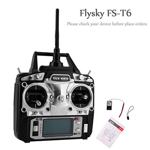 fernsteuerung 6 kanal UNIKEL Flysky FS-T6 Radiosteuerung 2.4G 6 Kanal-Sender + Empfänger für RC Hubschrauber