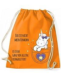 Bolsa de yute Bolsa De Gimnasio Bolsas De Deporte Bolsa de tela Bolsa de algodón con cordel Gymsack Kangarooh Bolsa de cuerno Unicorn cutie Bolsillo Das ist no mi Einhorn