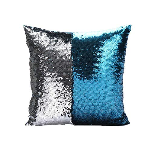 Pillow Case - 40 40cm Square Throw Pillow Case Sequins Cafe Home Present Pillowcase 1pcs - Regular Know Protective Galaxy Unicorn Nursing Dinosaur Case Markers Oatmeal Sheet Nautical Jap -